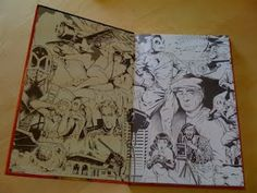 fully illustrated book endpapers