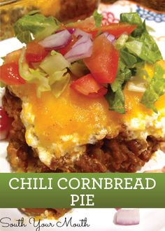 Mix things up this week with a loaded Chili Cornbread Pie – pin the recipe and make later!