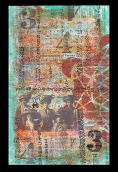 """The Reunion of Broken Parts"" Shelby Pizzarro   Conventional Collage. Artistcellar Stencils"