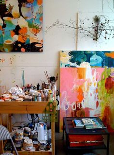 love looking at artist's spaces