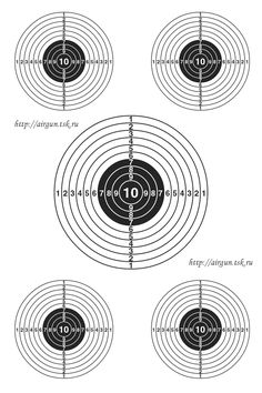 Smallbore 22 Caliber Rifle Targets Download And Print 11 X