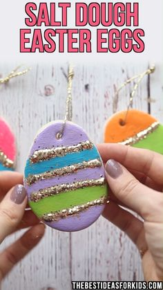 Easter Decorations 415034921910544836 - SALT DOUGH EASTER EGGS – this is such a fun Easter craft for kids! Kids can decorate their own salt dough Easter eggs. Source by Easter Projects, Easter Crafts For Kids, Toddler Crafts, Diy For Kids, Kids Fun, Easter For Babies, Easter With Kids, Spring Crafts For Preschoolers, Crafts For Children