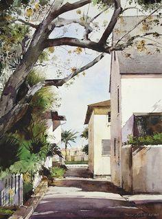 Bravo Lane Watercolor by Dean Mitchell