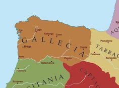 Proyecto Mauranus: El tribuno, su cohorte y la muralla (1) - Extensión de la provincia tardorromana de Gallaecia