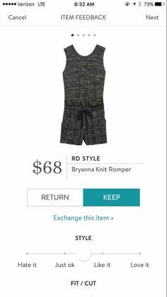 RD Style Bryanna knit romper - Stitch Fix Spring fashion 2017. Super comfy cotton romper. #stitchfix #sponsored