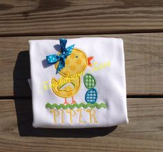 Little Chick Easter shirt by TouchdownTutus on Etsy