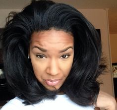 """// """"Flexi Rods!! Put in about 6-7 flexis let it sit for around 30 minutes... Wrap your hair after taking them out and that's it!"""" // [via Big Hair Bettyy] Love Hair, Big Hair, Great Hair, Gorgeous Hair, Beautiful, Healthy Hair, Bad, Straight Hairstyles, Pretty Hairstyles"""