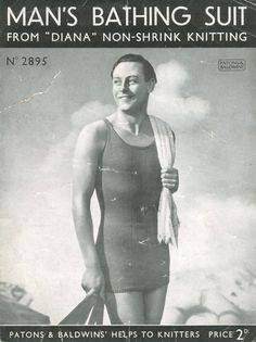 """""""Man's Bathing Suit from Diana Non-Shrink Knitting"""""""