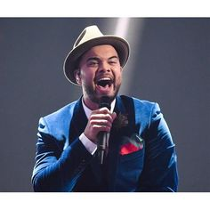 Guy Sebastian dazzles the crowds at Wiener Stadthalle in Vienna, Austria during rehearsals ahead of the Eurovision Song Contest. | Woman's Day content brought to you by Now to Love
