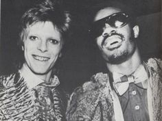 David Bowie and Stevie Wonder, 1973