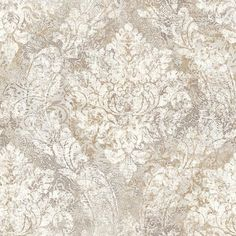 Light Grey Heirloom Damask - Fabriana - Rustico Wallpaper by Raymond Waites Zoffany Wallpaper, Damask Wallpaper, Home Wallpaper, Designer Wallpaper, Pattern Wallpaper, Wallpaper Warehouse, Classic Wallpaper, Gold Ink, Traditional Wallpaper