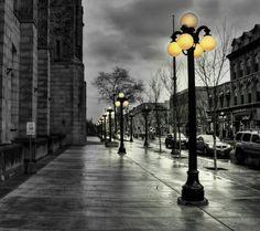 Empty street...