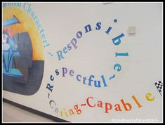 Elementary School Mural on Character Traits