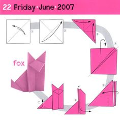 Crafty Fox - This is my favorite origami design (since I used it in my grey wolf presentation in American Indian Environmentalism in college, natch). Just made another one.
