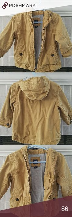 Baby Gap | Toddler Fashion Jacket Light Tan ,Baby Gap size 18 to 24 months,  (a little faded) GAP Jackets & Coats Raincoats