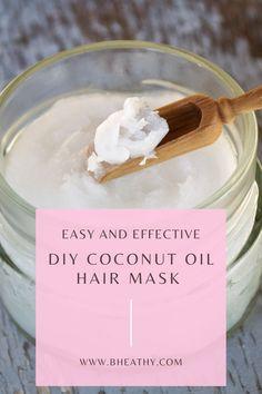Homemade Coconut oil hair mask.