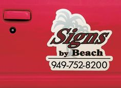 Car magnetic sign - Direct digital print on the flatbed system Canon Océ Arizona