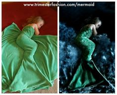 This mother had the awesome idea of turning her daughter's photo into a mermaid. #Photography #Mermaids #Photos