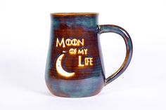 Moon of My Life Game of Thrones Handmade Pottery Coffee Mug My Life Game, Of My Life, Perfect Gift For Mom, Gifts For Mom, Green Mugs, Wheel Thrown Pottery, Pottery Making, Pottery Mugs, Stoneware Clay