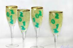 New Year's Champagne Jello Shots!