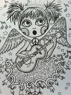 COLORING BOOK ANGELS Cute and Peaceful Angels by ChubbyMermaid