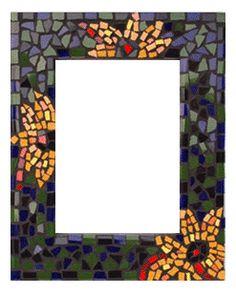 Mirror frame mosaic art - Sunflower