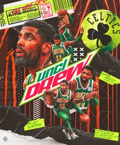 Artwork for Kyrie Irving of Boston Celtics Mvp Basketball, Basketball Posters, Love And Basketball, Sports Posters, Kyrie Irving Logo, Arte Hip Hop, Nba Pictures, Sports Graphic Design, Nba Sports