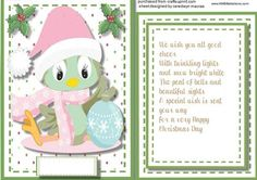 Christmas Topper Incert and Verse  on Craftsuprint - Add To Basket!