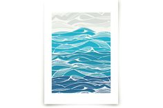 Tempestuous Seas Art Prints by Gill Eggleston Design Ltd at minted.com