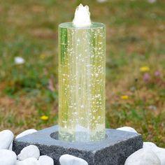 wasserbrunnen quellstein granit säule naturstein brunnen, Gartengestaltung