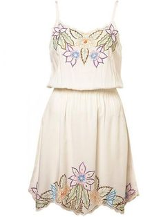 Embroidered Floral Sundress