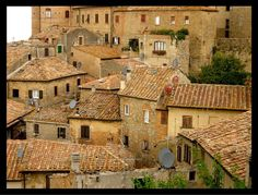 Tuscan rooftops, Volterra