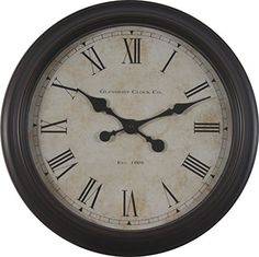 Decor Therapy 18 Global Glenmont Clock ** Read more at the image link.-It is an affiliate link to Amazon. #Clocks