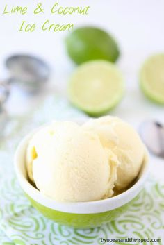 Lime & Coconut Ice Cream from my new cookbook, featured on @TwoPeasandPod (And a GIVEAWAY!)
