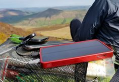 The OutXE Power bank is a compact lightweight 8000mAH portable charger with a solar panel and 32 super bright LED lights. Ideal for hiking and camping trips