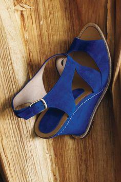 Cobalt Blue Wedges - Oh my!