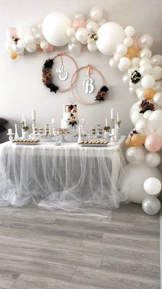 38 Super Ideas for wedding decoracion modern bridal shower - Wedding shower decorations - Wedding Shower Decorations, Birthday Party Decorations, Birthday Parties, Elegant Party Decorations, Bridal Decorations, Shower Centerpieces, Diy Decoration, Ceremony Decorations, Balloon Garland