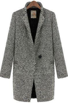 #roseandpose New In :: New In This Week :: Grey Trendy Woollen Winter Coat -