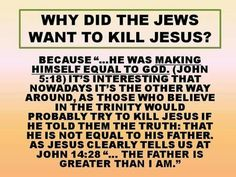 Why did the Jews want to kill Jesus?