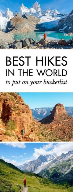 Click pin to discover the best hikes in the world   Best Hiking Trails in the World   #hiking #hikingadventures