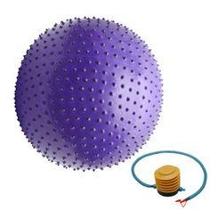 massage yoga ball   Yoga Fitness Ball 75cm Massage Ball Purple with Air Pump C696   eBay
