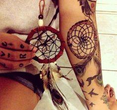 166 Dreamcatcher Tattoos for a Good Night Sleep