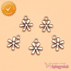 Ezüstszínű liliom virág - nikkelmentes fém zsuzsu / fityegő • Gyöngyvásár.hu Stud Earrings, Jewelry, Jewlery, Jewerly, Stud Earring, Schmuck, Jewels, Jewelery, Earring Studs