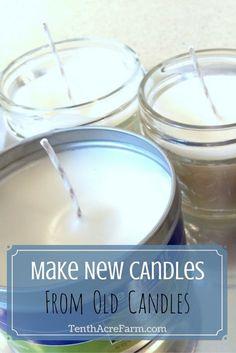 Making new candles from worn-out candles is an easy upcycle activity that can save you money, get you prepared for an unexpected power outage. They even make great gifts! Here's how I make new candles from old ones.