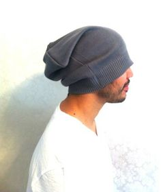 Slouch Mens Beanie Hat Men Clothes sport hat by MissTopKnot, $30.00