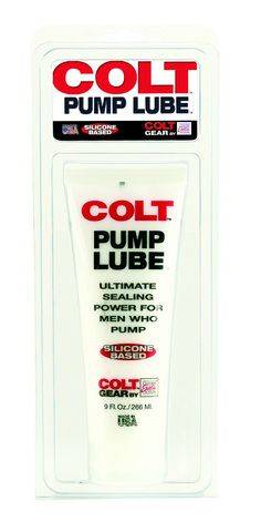 Colt Pump Lube is a silicone-based lubricant with ultimate sealing power for men who demand strength. Generously apply to ring or donut on pump to facilitate an accurate seal. This lube is ideal for loving your pumping sessions even more than you already do! 9 oz