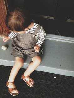 linen sunsuit by rajovilla Little Boy Outfits, Little Boy Fashion, Baby Boy Fashion, Baby Boy Outfits, Kids Outfits, Kids Fashion, Sweet Boys, Toddler Boys, Baby Kids