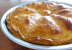 Traditional Greek Leek Pie recipe (Prasopita) - My Greek Dish Phyllo Recipes, Pastry Recipes, Pie Recipes, Recipies, Greek Recipes, Light Recipes, Egyptian Recipes, Leek Pie, Filling Snacks