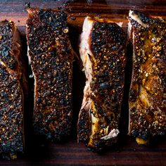The ribs become completely tender during the initial cooking, then are crisped under the broiler before serving.- Make these for Sunday