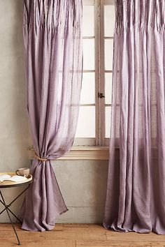 Pinch-Pleat Curtain - anthropologie.com